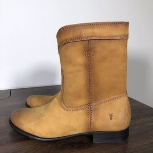 New Frye Cara Roper Boots Sz 7 Riding Short Cowboy